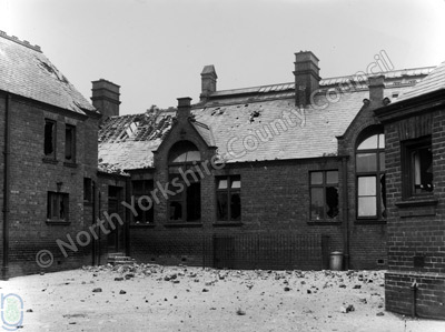 Bombardment Damage at a Scarborough School